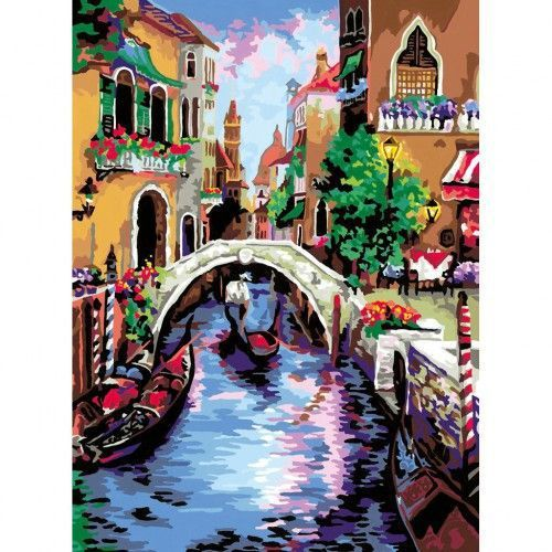 Раскраска по номерам Волшебная Венеция 30х40 Ravensburger ...