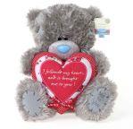 Мишка Тедди c сердцем, 25см.