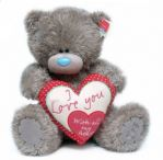 Мишка Тедди держит сердце Love you with all my heart. 41 см